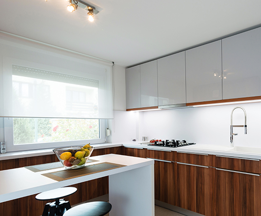 kitchen interior in modern apartment